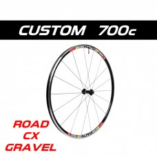 Custom Handbuilt 700c ROAD, GRAVEL, CYCLOCROSS front wheel configurator