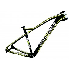 "Sintesi 328 29"" carbon frame black-white-neon green, size 17"