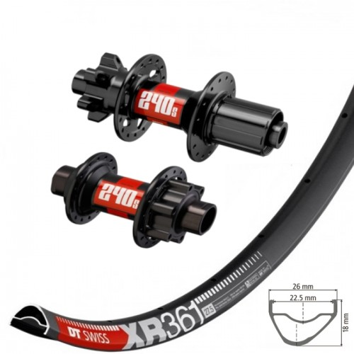 DT Swiss XR361 wheelset with DT Swiss IS hubs
