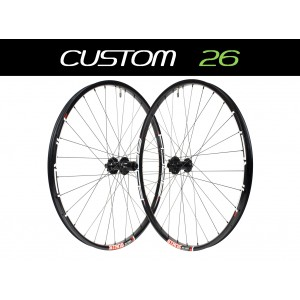 "Custom Handbuilt MTB 26"" Wheels"