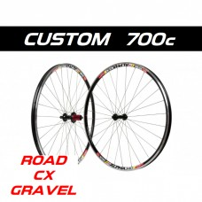 Custom Handbuilt 700c ROAD, GRAVEL, CYCLOCROSS wheelset configurator